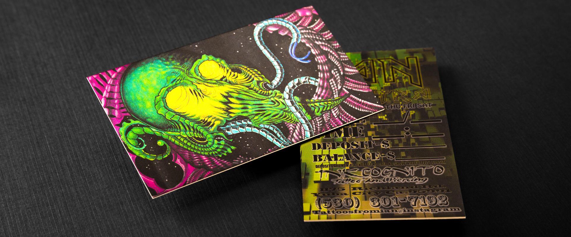 Cold Foil Cards 28pt Creator Print
