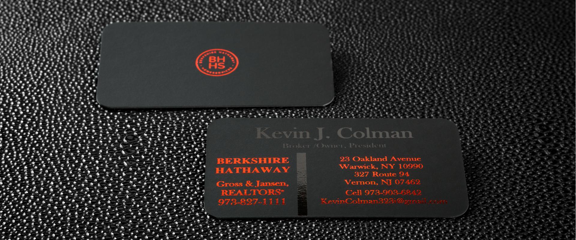 Black Velvet Cards (22pt) | Creator Print