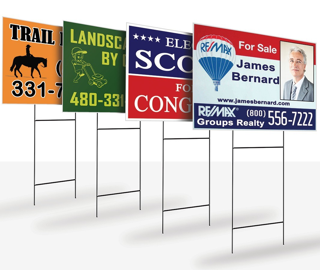 coroplast yard signs, real estate lawn sing